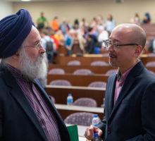 Two men at Lender Center symposium